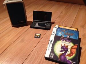 Nintendo DS Lite with 4 Games and Case