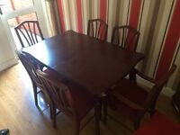 Dining table (6chairs) and cabinet
