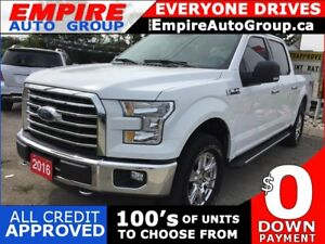 2016 FORD F-150 XLT SUPERCREW * 4WD * ONE OWNER * REAR CAM