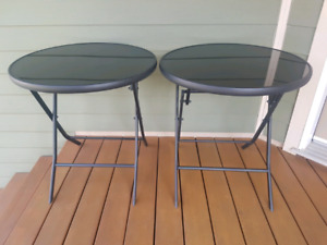 Black fold up patio tables new