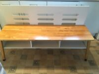 Solid wood Bench with storage contemporary design