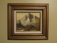 Framed Oil Paintings - Set of Three Pictures