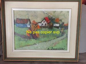 2 magnifiques tableaux d'Albert Rousseau 16 x 12 encadrés
