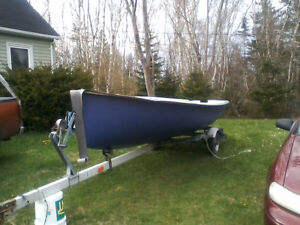 15 FT GLASS SKIFF, GOOD CONDITION