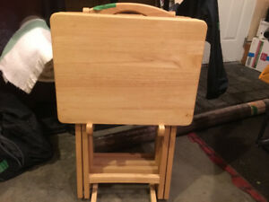 Wooden TV tables
