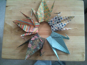New Hand folded Origami Paper Cranes London Ontario image 6