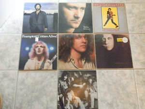 ROCK VINYL LP RECORDS (LIST #1)