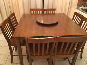 Kitchen Table and 8 Chairs - Counter Height - Richmond Hill