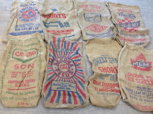 Vintage Reclaimed Burlap Sacks
