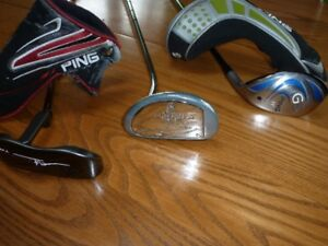 Golf putters and Rescue club for sale