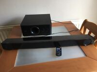 Yamaha YAS101 soundbar with YST-FSW050 sub