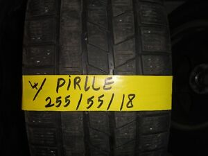 4 WINTER TIRE PIRLLE 255/55/R18 80% TREAD