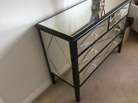Mirror bedroom sideboard and bedside cabinets