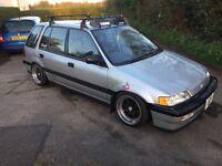 1991 Honda Civic Shuttle Vtec 1.4 Crx Stance Modified lowered ee ef Ek eg ef9 VT
