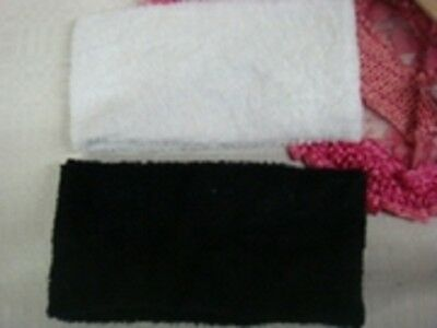 NEW  Lot One of each  black white head bands back spa - Bulk Head Bands