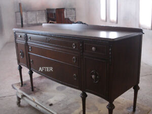 !ANTIQUE FURNITURE/desks, dressers, any cabinets /refinishing