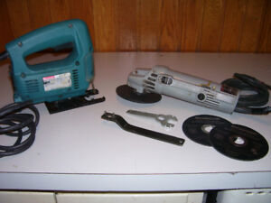 Makita Electric Jigsaw and Grinder