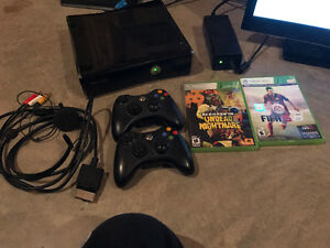 250g slim black console comes with two games
