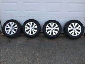 "15"" Honda Civic Uniroyal Tiger Paw Studded Tires. Rims & Hubcaps"