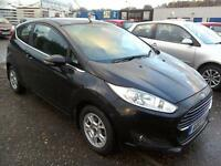 2013 Ford Fiesta 1.6TDCi ECOnetic Zetec Diesel 3Dr Black 74K FSH FREE ROAD TAX