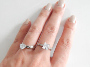 CUBIC ZIRCONIA RINGS 2 FOR $20