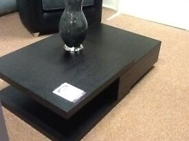 Large walnut coloured coffee table contemporary
