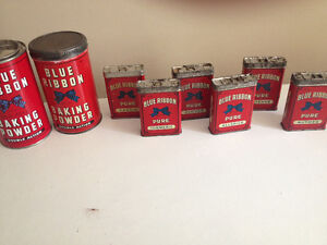 Vintage Blue Ribbon Containers