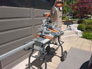 Ridgid Compound Mitre Saw and Portable Stand