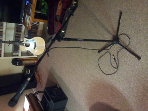 professional microphone and stand for sale