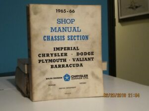 1965-66 CHRYSLER SHOP MANUALS, 2 V SET, ORIGINAL
