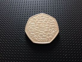 WWF 2011 Collectors 50 pence coin for sale