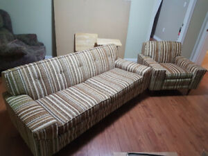 SOLD Striped Sofa & Armchair Set - NAME A PRICE AND IT'S YOURS