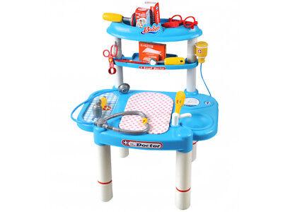 Doktortisch Doktorspiel Puppenklinik Arzt Set Spielzeug   Zubehör Neu #1401