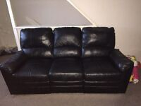 Warren 3 Seater leather recliner sofa