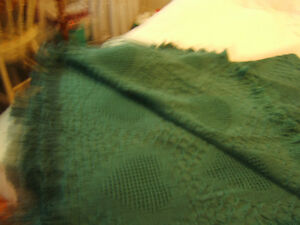 """TEAL COTTON COUCH THROW OR BLANKET"" Kingston Kingston Area image 5"