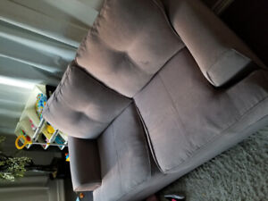 Two Couches in great condition (Fabric Grey)