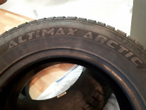 2 slightly used winter tires for sale 215/60 R16