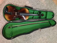 4/4 VIOLA, BOW & HARD SHELL CASE.