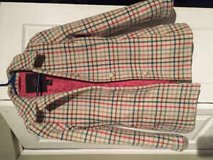 100% Wool Coach Tattersall Print Coat