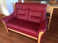Stylish 2 seater leather sofa