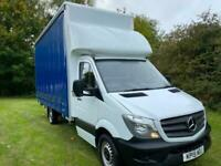 Mercedes Sprinter 313Cdi 3.5t. New 17ft x 9ft High Curtain Side/Luton Body, Nice