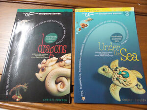 The Sculpture Series - Dragons and Under the Sea (2 books) Kingston Kingston Area image 1