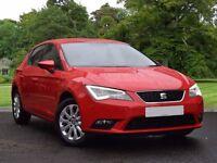 SEAT Leon 1.6 TDI SE (Tech Pack) 5dr (start/stop) (red) 2013