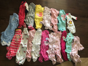 X-TRA LRG Lot Newborn - 3 months Baby Girl Clothing.