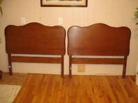 Two Solid Cherry Headboards