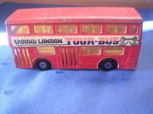 "Matchbox ""Super Kings"" Double Decker Tour Bus - Made in 1972"