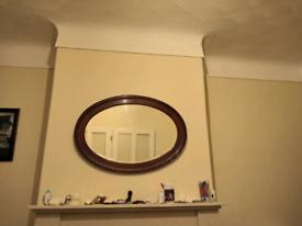 Bevelled edge mirror.