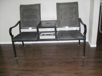 pato bench with table in middle
