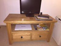 Solid Oak TV Stand Unit