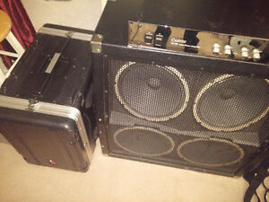 100 Watt tube power amp, 400 watt Behringer 4x12, Gator 6u rack
